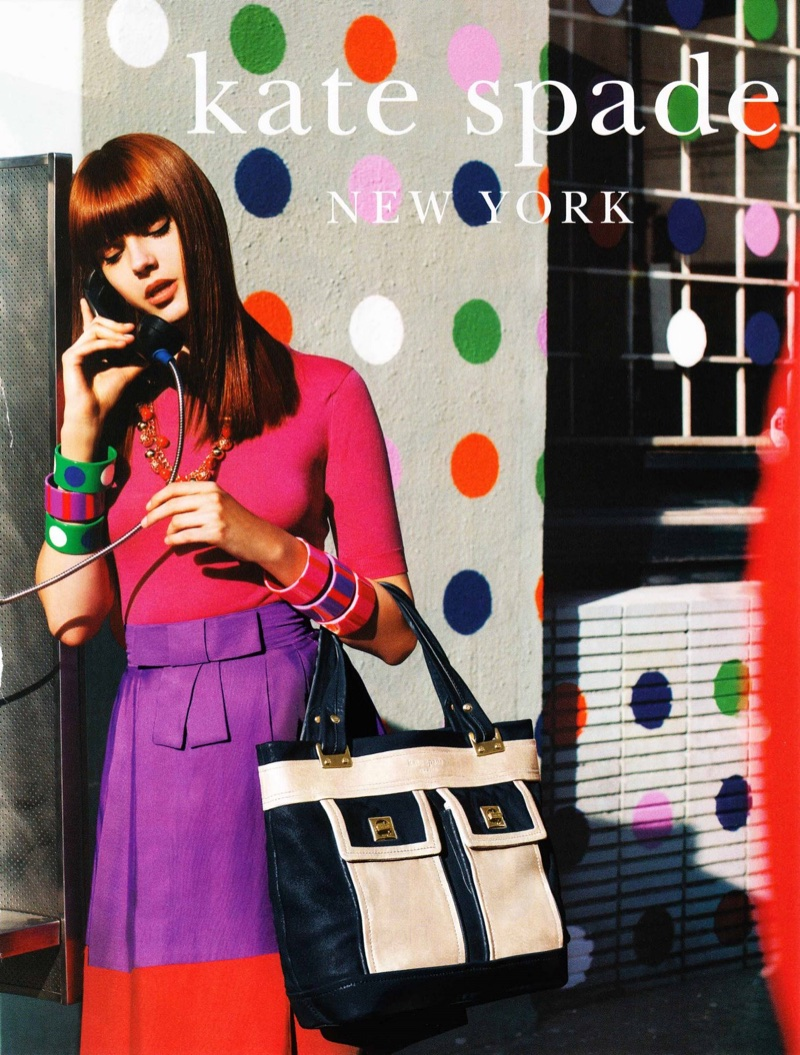 Kate Spade's advertising campaigns are well-known for their vibrant colors