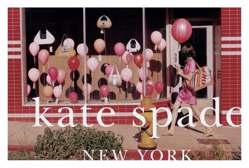 Pink balloons take the spotlight in Kate Spade's spring-summer 2006 campaign
