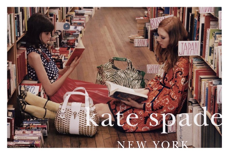 For the spring-summer 2006 campaign, Tim Walker captures Kate Spade girls in a library