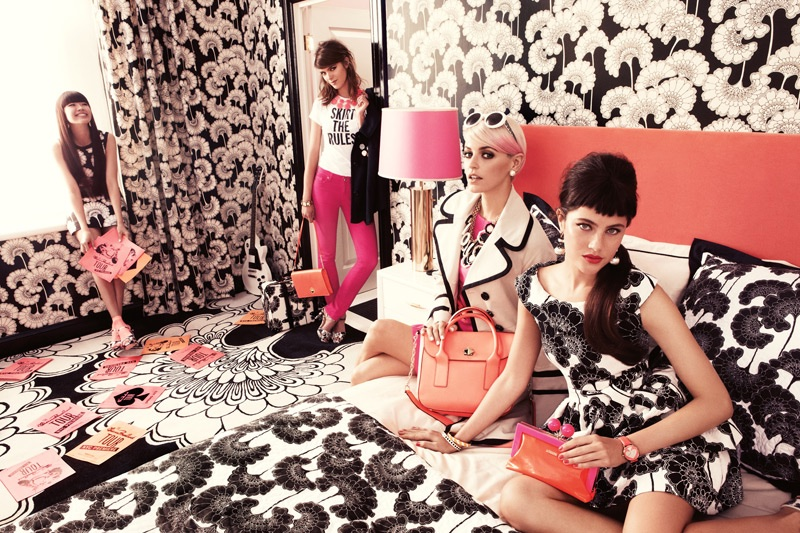 Retro style takes the spotlight in Kate Spade's spring-summer 2012 campaign