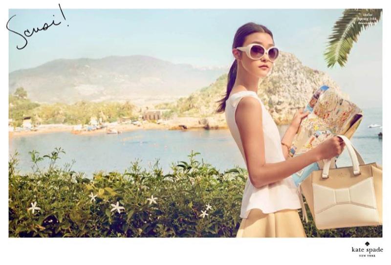 JiHye Park looks fresh in Kate Spade's spring-summer 2014 advertising campaign
