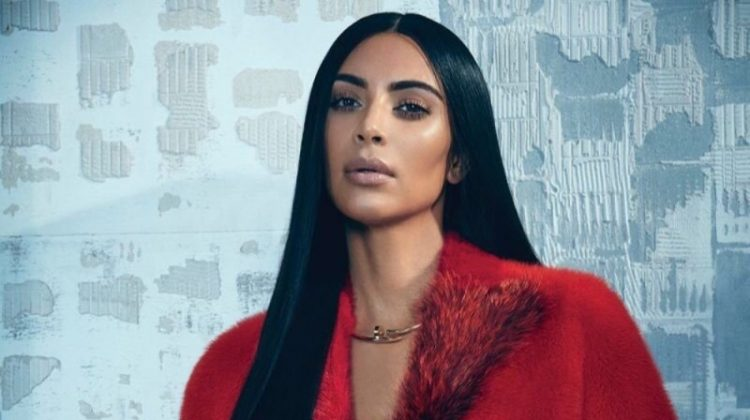 Kim Kardashian poses in Max Mara coat