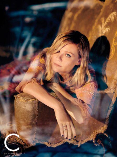 Kirsten Dunst Poses in Pretty Dresses for C Magazine
