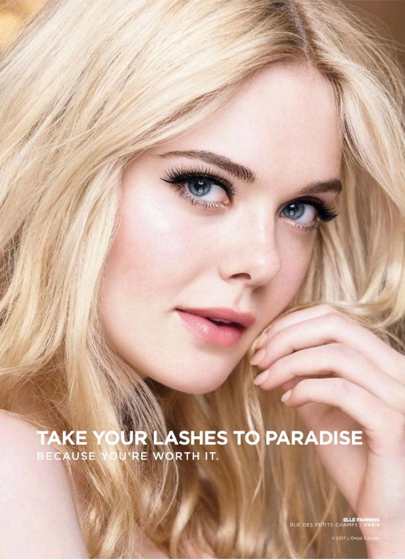 Elle Fanning fronts L'Oreal Paris Lash Paradise / Mascara campaign