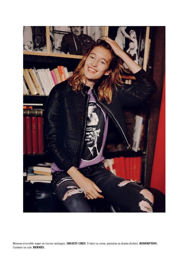 Laetitia de Montalembert Embraces Garçonne Style for L'Officiel Paris