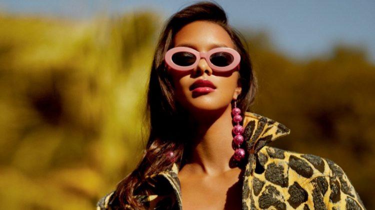 Lais Ribeiro Embraces Bombshell Fashion in Vogue Brazil