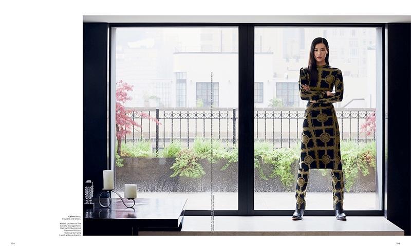 Liu Wen Embraces Sleek & Modern Styles for T Magazine Singapore