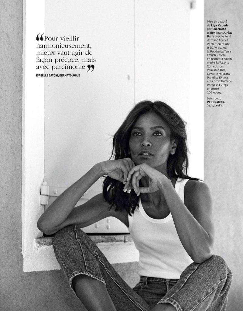 Liya Kebede Models Casual Chic Styles in Grazia France