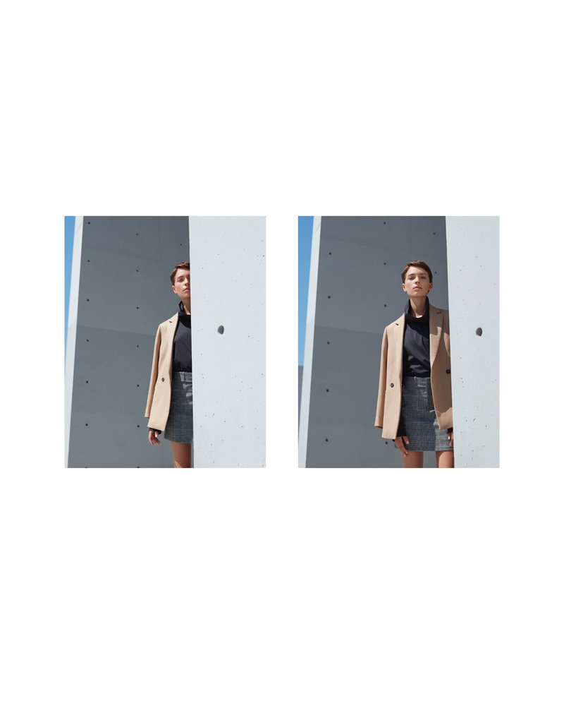 Loane Normand Wears Menswear Inspired Looks for ELLE France