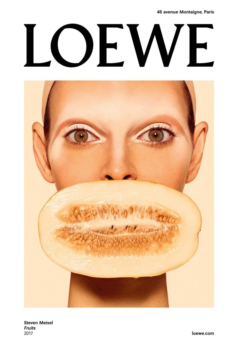 Steven Meisel photographs LOEWE 'Fruits' spring 2018 campaign