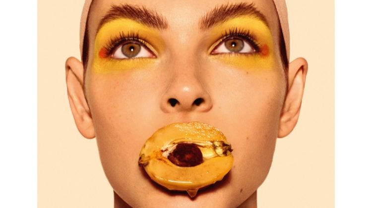 Vittoria Ceretti poses for LOEWE 'Fruits' spring 2018 campaign