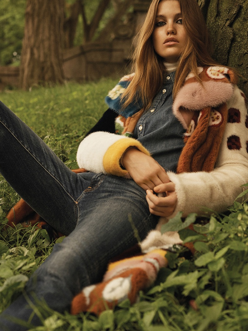 Luna Bijl Wears Retro Inspired Looks for WSJ. Magazine
