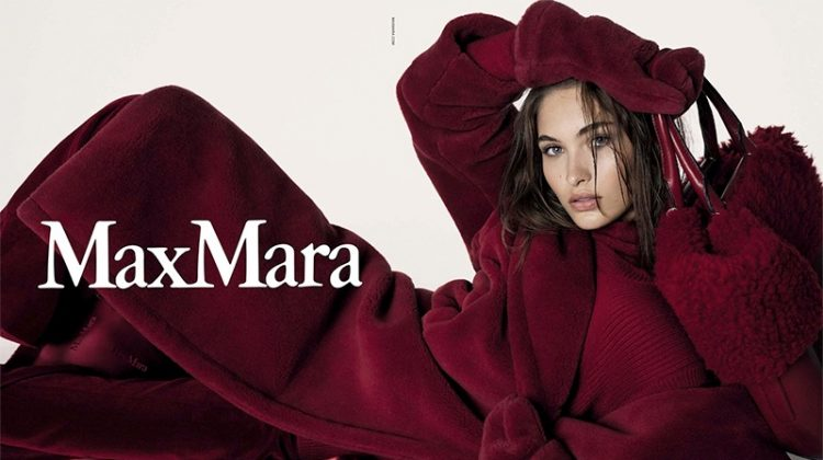 Grace Elizabeth Keeps It Cozy Luxe in Max Mara's Fall 2017 Campaign