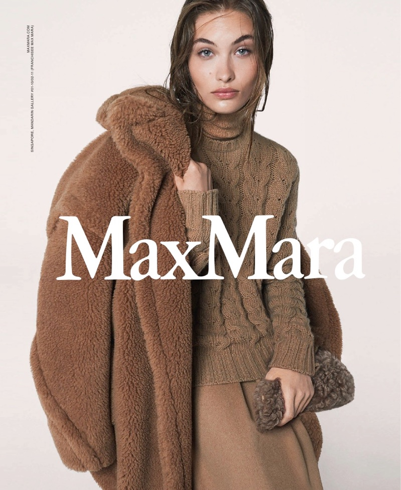 An image from Max Mara's fall 2017 advertising campaign starring Grace Elizabeth