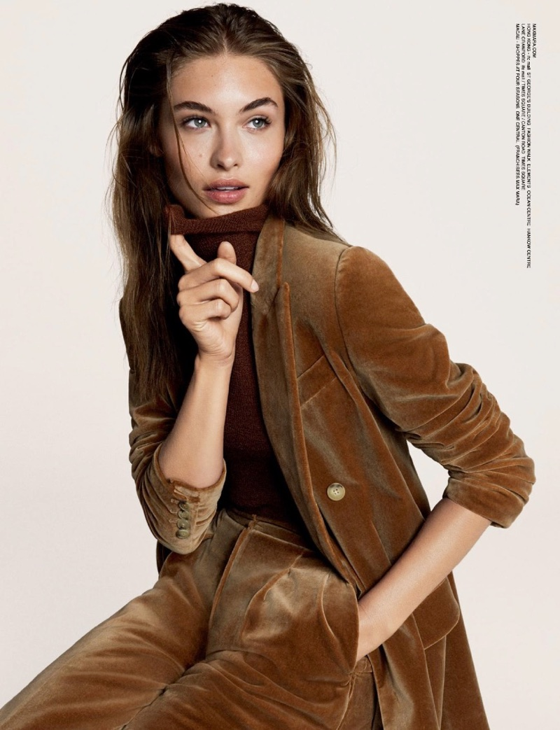 Grace Elizabeth suits up in Max Mara's fall-winter 2017 campaign