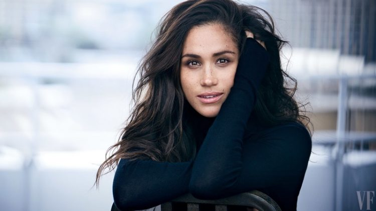 Meghan Markle covers up in a turtleneck sweater