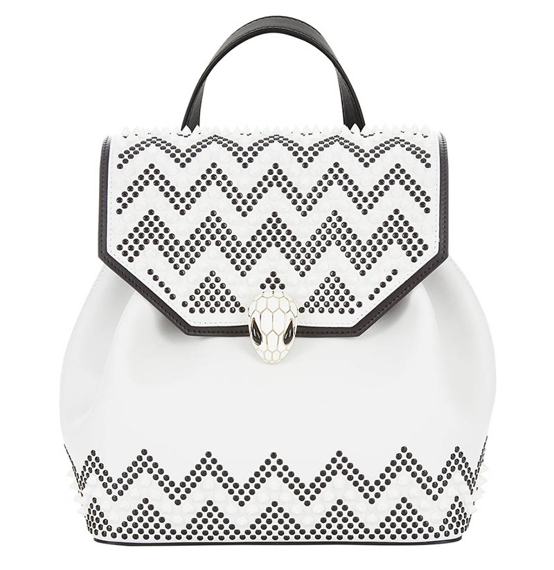 Nicholas Kirkwood x Bulgari Serpenti Forever Backpack in Black/White $2,980