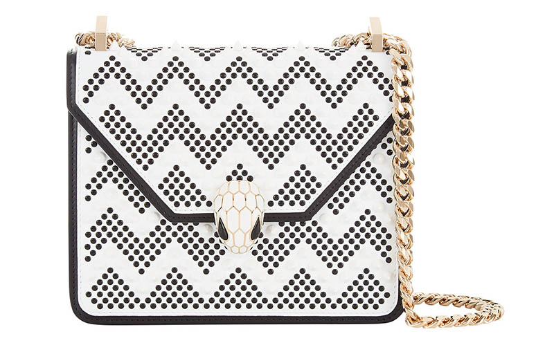 Nicholas Kirkwood x Bulgari Serpenti Forever Crossbody Bag in Black/White $2,800