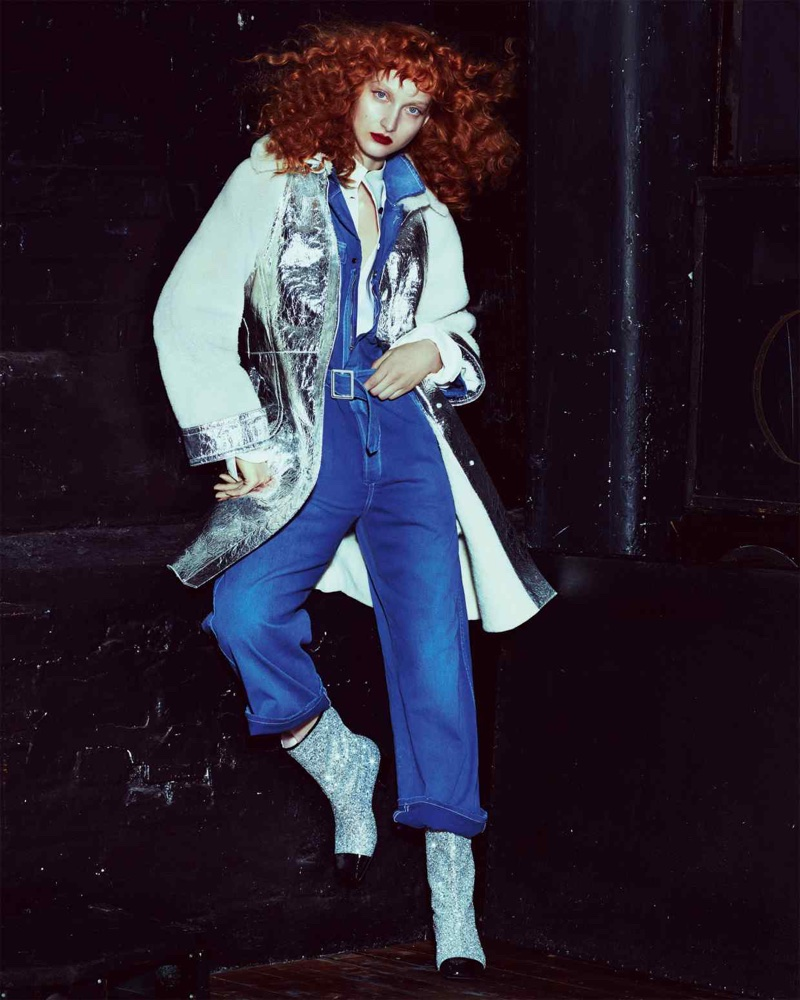 Nika Cole Models Cool Outerwear for How to Spend It Magazine