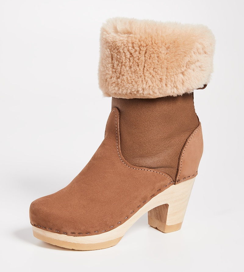No. 6 Pull On Shearling High Boot $420