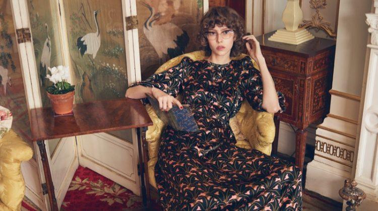 Lorena Maraschi stars in Orla Kiely's fall-winter 2017 campaign