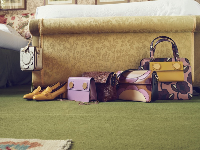Irish fashion brand Orla Kiely features colorful handbags in fall-winter 2017 campaign