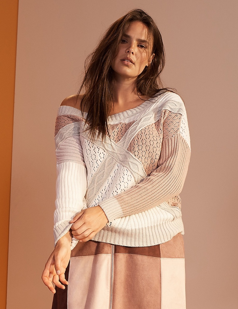 Prabal Gurung x Lane Bryant Slouchy Patchwork Sweater $88