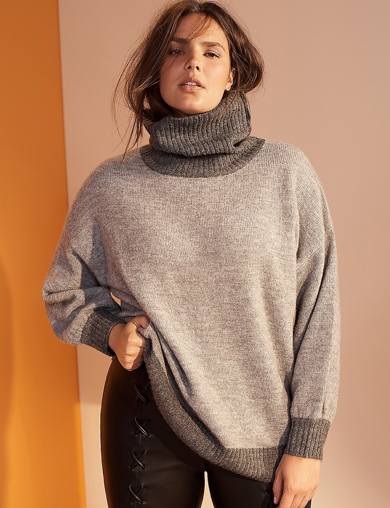 Prabal Gurung x Lane Bryant Slouchy Turtleneck Sweater $98