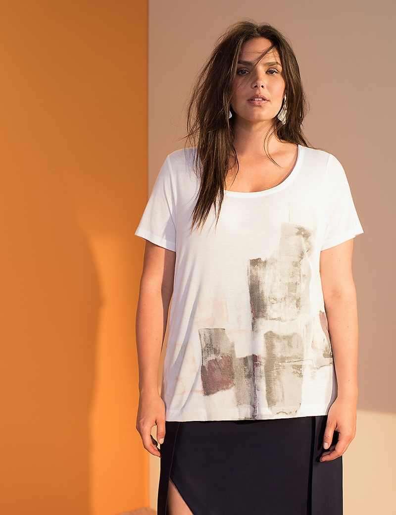 Prabal Gurung x Lane Bryant Watercolor Graphic Tee $38