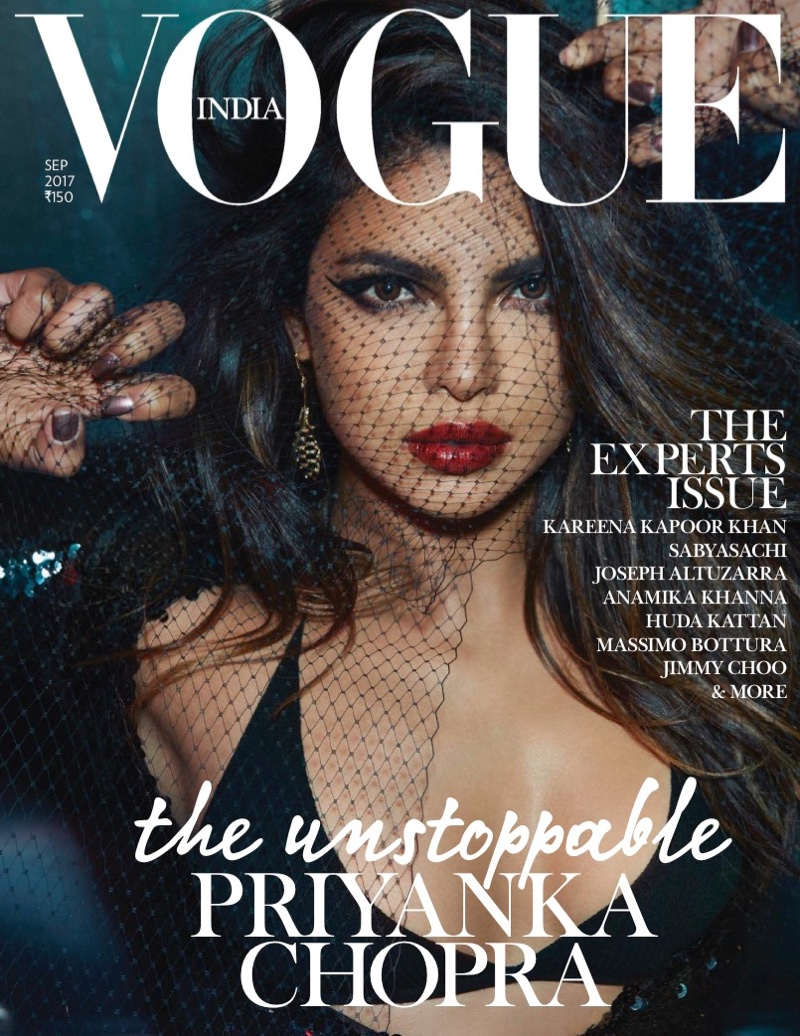 Priyanka Chopra on Vogue India September 2017 Cover