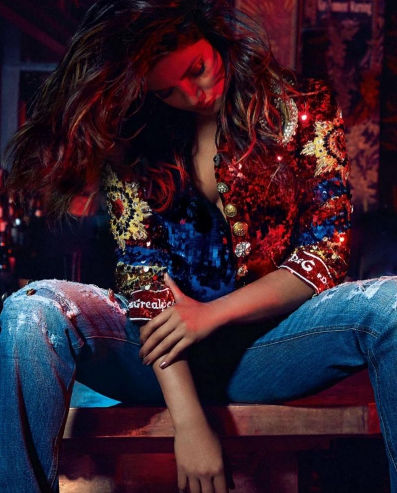 Priyanka Chopra poses in Dolce & Gabbana look