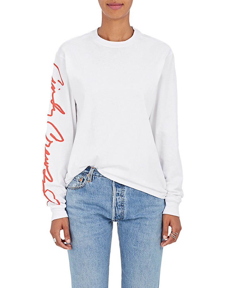 RE/DONE The Crawford Cotton-Blend Sweatshirt in White $235