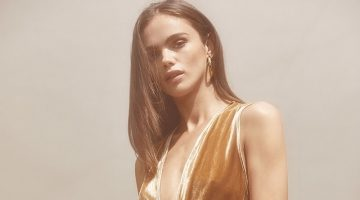 Reformation Anoush Dress in Gold