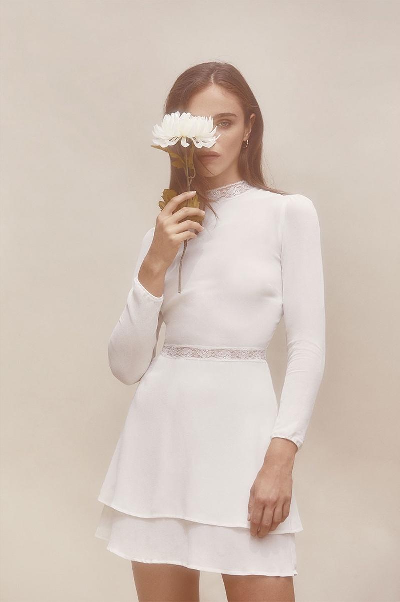 Reformation Sonoma Dress in Ivory