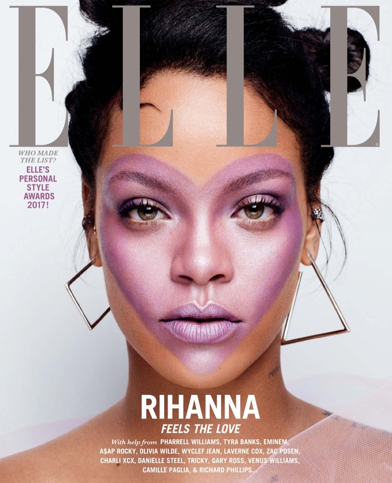 Rihanna on ELLE October 2017 Cover