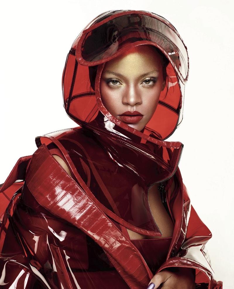 Rihanna Wears Bold Makeup Looks in Elle