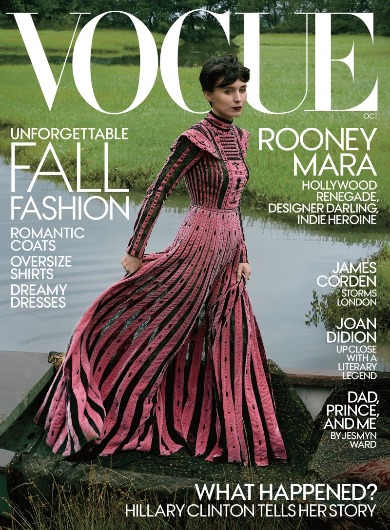 Rooney Mara on Vogue Magazine October 2017 Cover