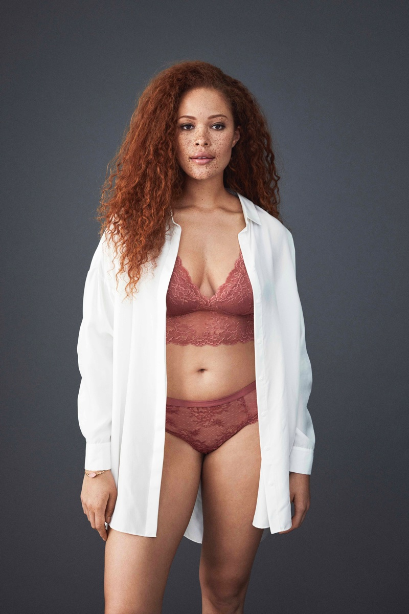 Sabrina Karlsson stars in Lindex's Pink Lingerie Campaign