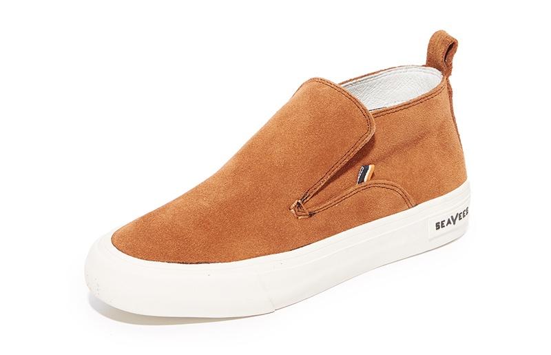SeaVees x Derek Lam 10 Crosby Huntington Middie Sneakers in Cognac $150