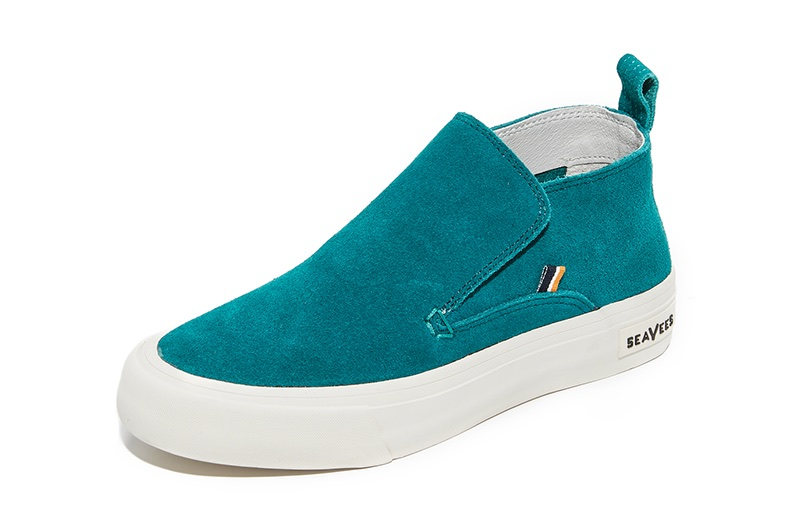 SeaVees x Derek Lam 10 Crosby Huntington Middie Sneakers in Teal $150
