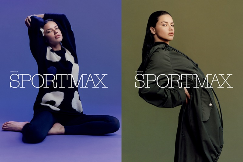 An image from Sportmax's pre-fall 2017 advertising campaign starring Adriana Lima