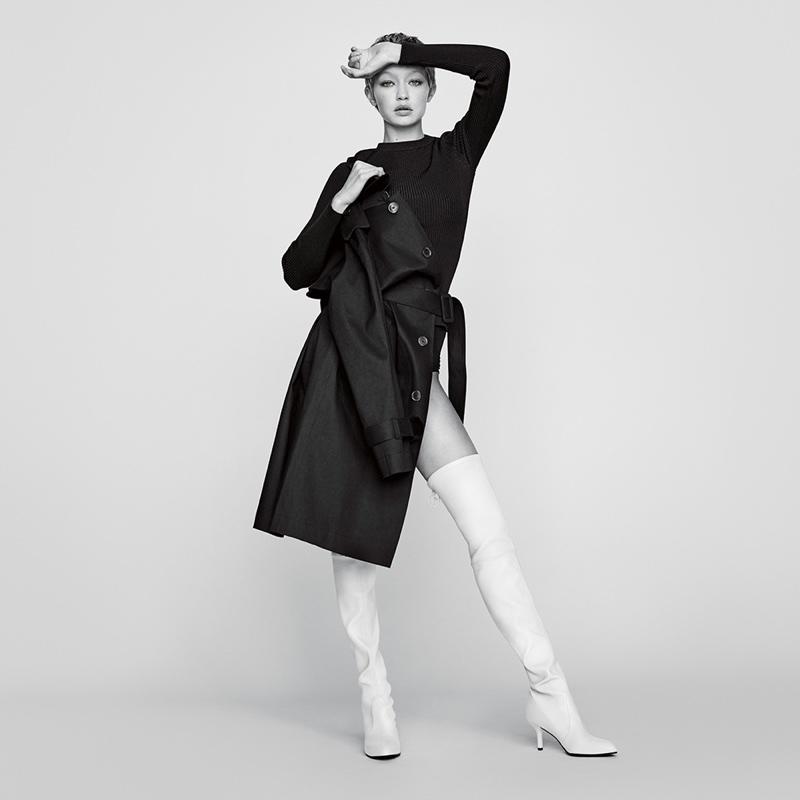 Gigi Hadid for Stuart Weitzman fall-winter 2017 campaign