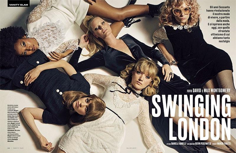 Lottie Moss & Lou Schoof Channel Swinging 60's Style in Vanity Fair Italy