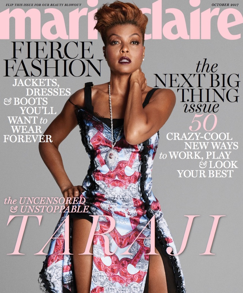 Taraji P Henson Shows Off A Short Hairstyle In Marie Claire