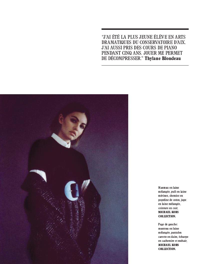 Thylane Blondeau Models Michael Kors' Fall Styles for L'Officiel Paris