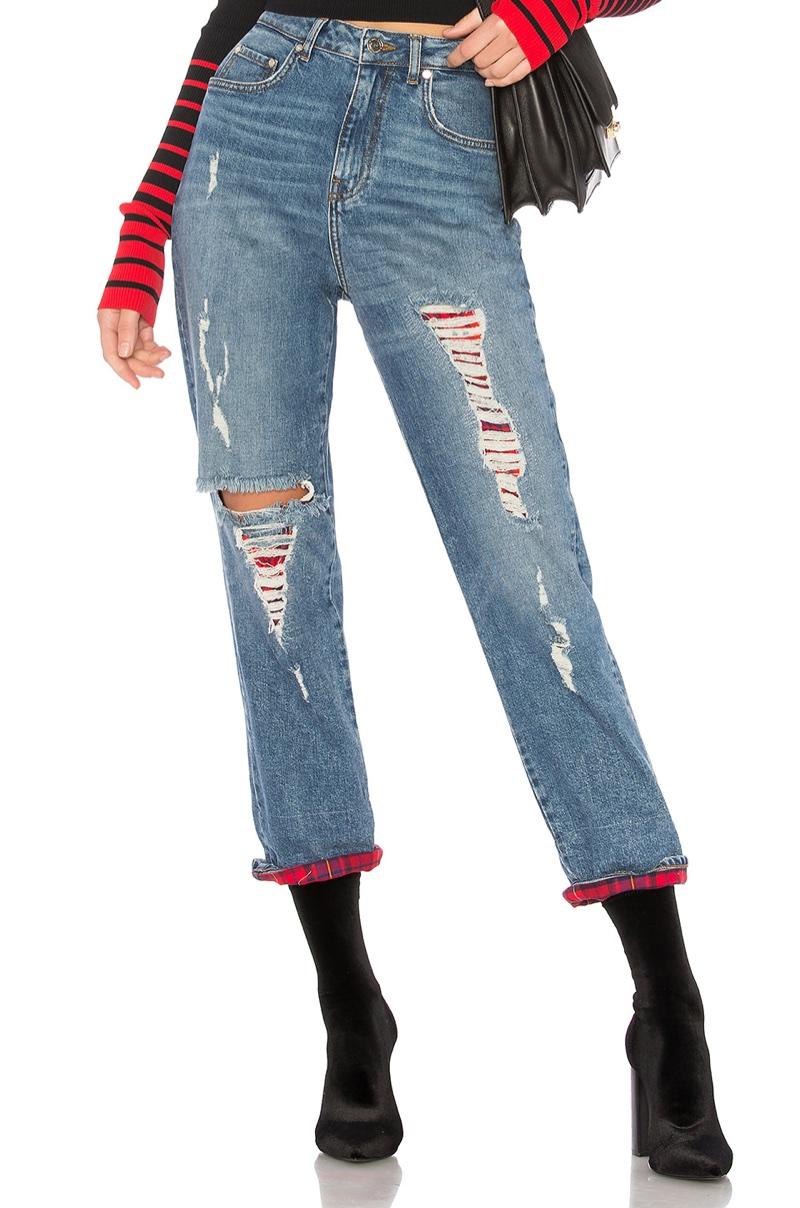 Tommy x Gigi Destroyed Jean $189