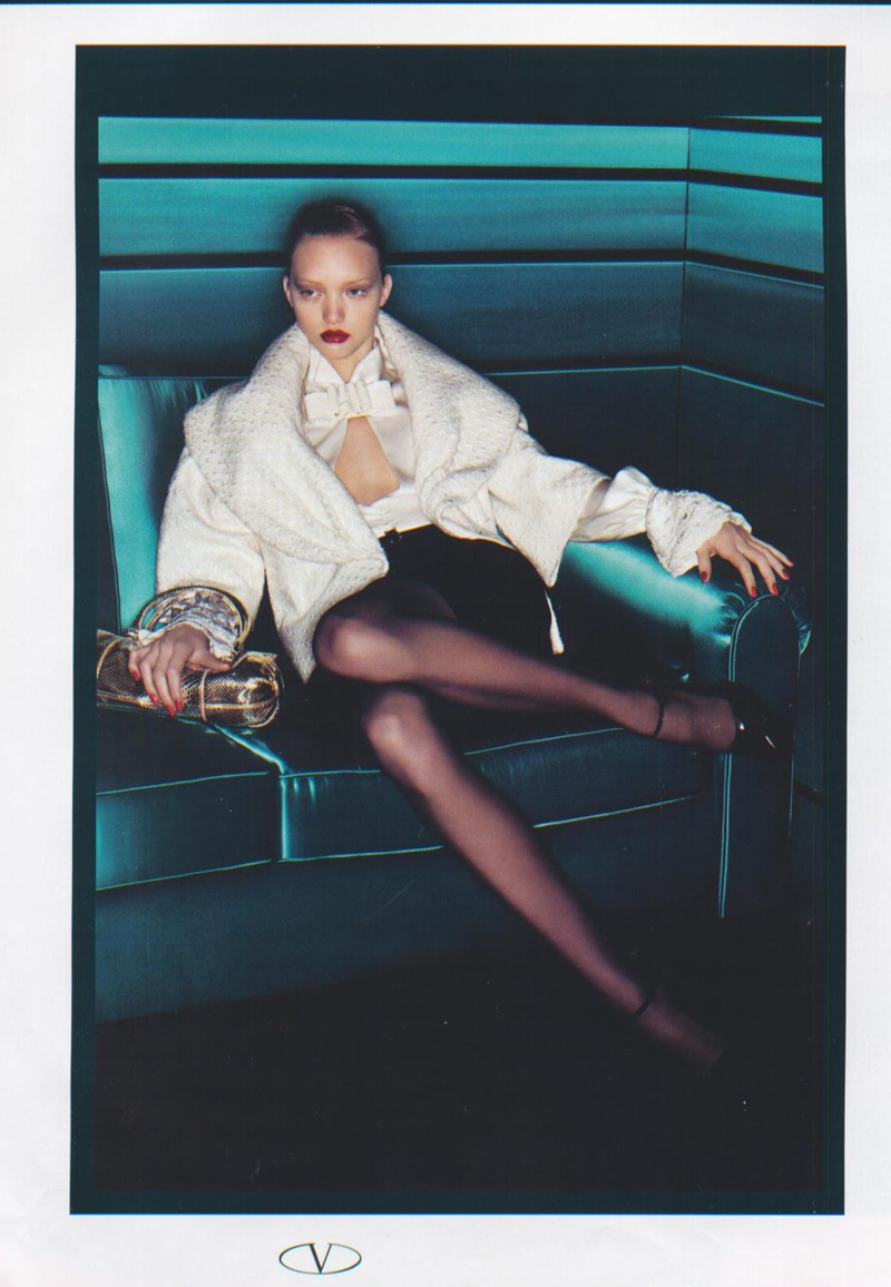 Gemma Ward stars in Valentino's fall-winter 2006 campaign