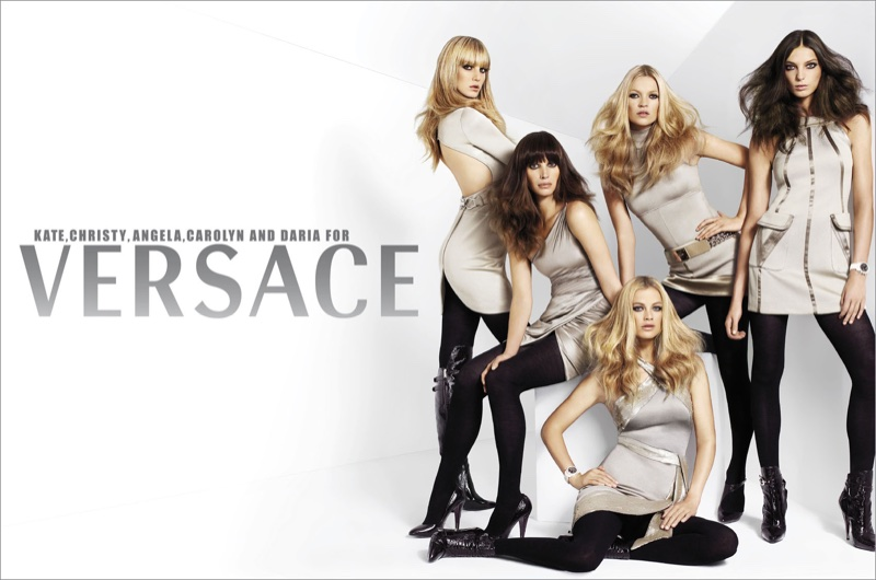 Angela Lindvall, Carolyn Murphy, Daria Werbowy, Christy Turlington and Kate Moss star in Versace's fall-winter 2006 campaign