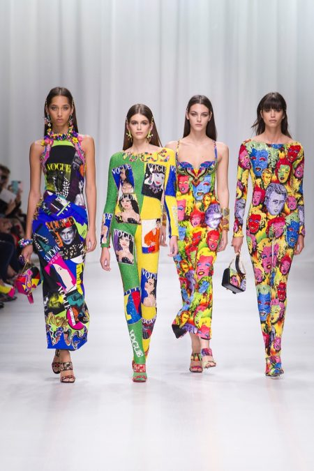 Versace Looks to 90's Archives for Spring 2018