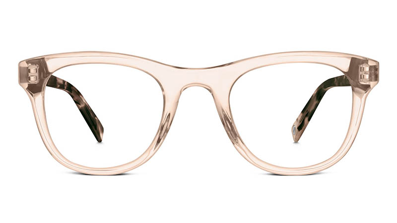 Warby Parker Cora Glasses in Crystal Sable with Opal Tortoise $95